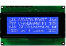 20x4 Character White on Blue LCD CFAH2004B-TMI-ET