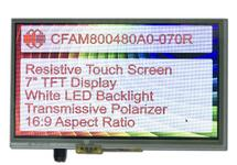"7"" 800x480 TFT with Resistive Touch Screen CFAM800480A0-070R"