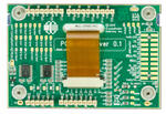CFA10072 board – back view shown with Arduino connectors for the CFA212-TFH development kit.