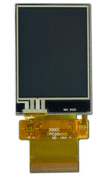 240x320 TFT with Touchscreen. Front view, powered off.