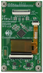 240x400 full-color tft with EVE graphic accelerator. Back view.