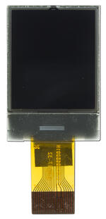 One inch graphic LCD, front view  turned off.