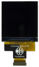 240x240 square TFT LCD display, front view powered off.