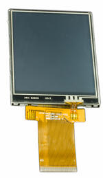 CFAF240320B1-032T-TS 3.2 inch 240x320 Color TFT w/ Resistive Touch Screen, Isometric view