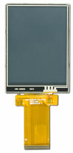 CFAF240320B1-032T-TS 3.2 240x320 Color TFT w/ Resistive Touch Screen, Front View w/ Tail