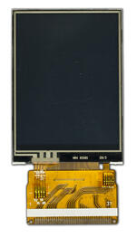 240x320 TFT LCD Front view, turned off