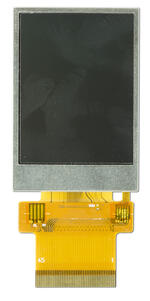 240x320, 2 inch, full-color, TFT display. Front view, powered off.
