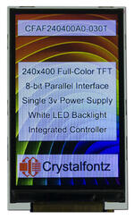 240x400 TFT LCD with carrier board this carrier board includes PEM nuts for easy mounting.