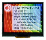 The carrier board for theCFAF320240F-035T 3.5 TFT displays provides a neat package.