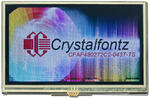 The CFAF480272c2-043T-TS is a 4.3 480x272 color TFT with resistive touch screen - as the camera perceives the display.