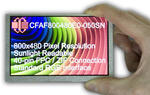 800x480 TFT LCD, in-hand to show size and perspective