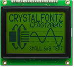 The CFAG12864C-YYH-TN graphic LCD module with backlight off.