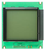 The CFAG160160D5-TFH-VGB is a 160x160 dark on light gray graphic LCD display – front view, power off.