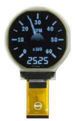 128x128 Round OLED Tachometer Display