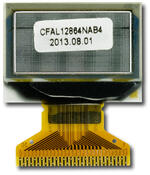 Back view of CFAL12864N-A-B4 128x64 OLED graphic display.