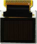 This CFAL9664B-F-B1 is a 0.95 96x64 full color OLED display – front view, power off, tail unfolded.