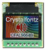 96x64 full-color OLED display