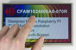 1024x600 7 inch Raspberry PI TFT LCD with resistive touchscreen.