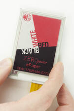 2.7 inch 3-color epaper display module - in hand for perspective