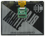 5.83 inch ePaper shown attached to ePaper adapter board.