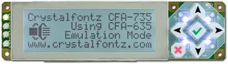 20x4 Character Serial LCD Display (CFA735-TFK-KR)