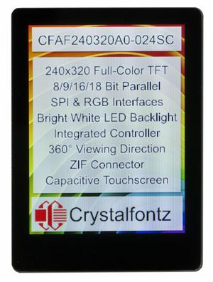 "2.4"" Full-Color Capacitive Touchscreen TFT (CFAF240320A0-024SC)"