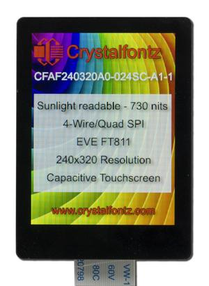 "2.4"" EVE Touchscreen Display (CFAF240320A0-024SC-A1-1)"