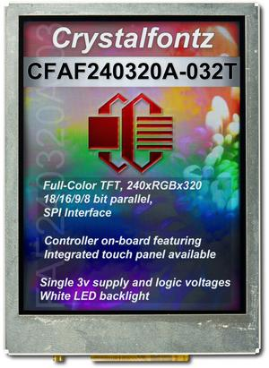 "240x320 3.2"" Full Color TFT LCD (CFAF240320A-032T)"
