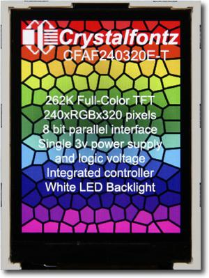 240x320  Parallel Color TFT (CFAF240320E-T)
