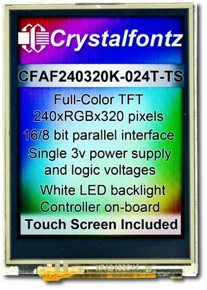 "240x320 2.4"" Touch Screen Color TFT (CFAF240320K-024T-TS)"