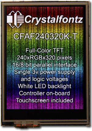 240x320  Parallel Color TFT (CFAF240320K-T-TS)