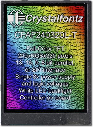 240x320  Parallel Color TFT (CFAF240320L-T)
