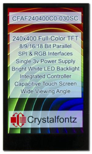 3 Inch 240x400 Full-Color IPS Touchscreen Display (CFAF240400C0-030SC)