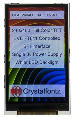 "3"" 240x400 EVE TFT Display (CFAF240400E0-030TN-A1-1)"