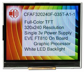 320x240 TFT with EVE Accelerator (CFAF320240F-035T-A1-1)