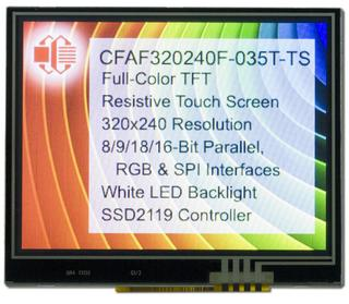 "320x240 3.5"" Touch Screen Color TFT (CFAF320240F-035T-TS)"