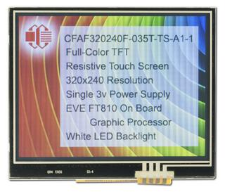 320x240 3.5 Inch EVE Display Kit (CFAF320240F-035T-TS-A1-1)