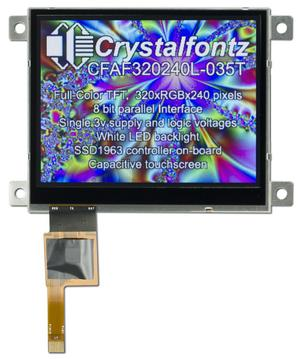 "3.5"" 320x240 Capacitive Touch Screen (CFAF320240L-035T-CTS)"