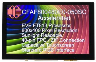 800x480 TFT with Graphic Accelerator Board (CFAF800480E0-050SC-A1-1)