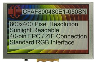 800x480 5 inch Sunlight Readable TFT (CFAF800480E1-050SN)