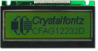122x32  Parallel Graphic LCD (CFAG12232D-NYG-VA)