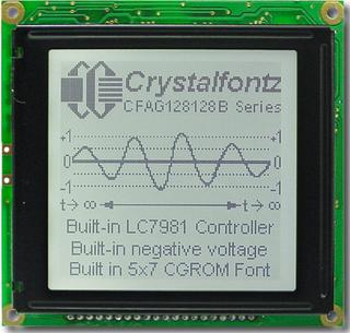 128x128  Parallel Graphic LCD (CFAG128128B-TFH-VZ)