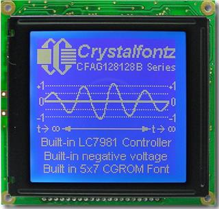 128x128  Parallel Graphic LCD (CFAG128128B-TMI-VZ)