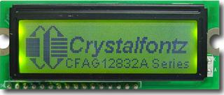 128x32  Parallel Graphic LCD (CFAG12832A-YGH-N)