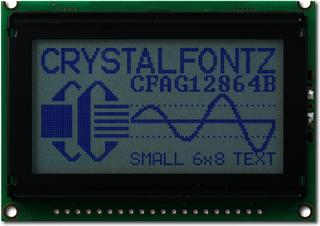 128x64  Parallel Graphic LCD (CFAG12864B-WGH-N)