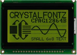 128x64  Parallel Graphic LCD (CFAG12864B-YYH-V)