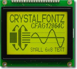 128x64 Sunlight Readable Graphic LCD (CFAG12864C-YYH-TN)
