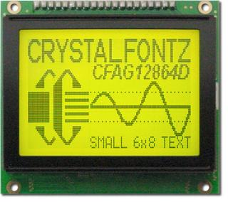 128x64 Sunlight Readable Graphic LCD (CFAG12864D-YYH-TZ)