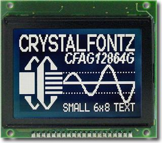 128x64 Parallel Graphic LCD (CFAG12864G-STI-TY)