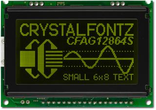 128x64 SPI or Parallel Graphic LCD (CFAG12864S-YTI-VT)
